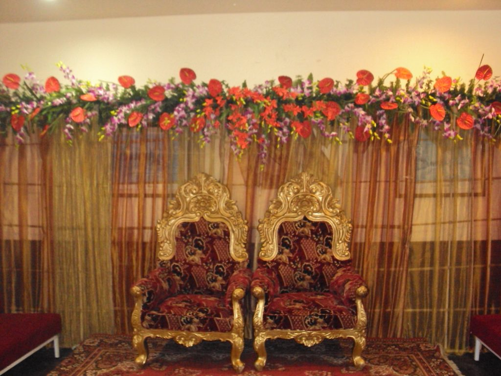 Wedding Planning Simple Floral Reception Stage