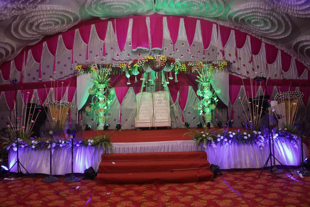 Wedding Planning Floral Reception Stage Angul