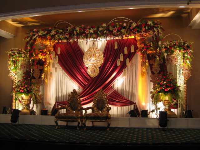 Wedding Planning Floral Reception Stage