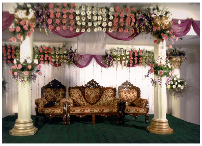 Wedding Planning Floral Reception Stage Patna